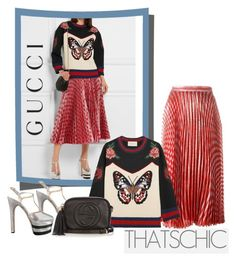 """""""Cozy Chic"""" by faten-m-h ❤ liked on Polyvore featuring Gucci and cozychic"""