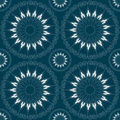 Stylized blue flower pattern fabric by suziedesign on Spoonflower - custom fabric Pattern Fabric, Abstract Pattern, Custom Fabric, Flower Patterns, Blue Flowers, Spoonflower, Craft Projects, Fabrics, Colorful