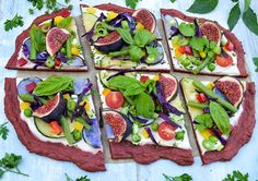 Vegan Gluten free Pizza with beet crust and cashew spread