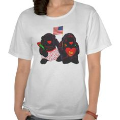 Two Stuffed Gorillas American Flag Shirt