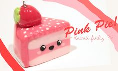 ◕‿‿◕Kawaii- Strawberry Pie! -Tutorial in polymer clay