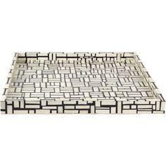 geometric patterned tray