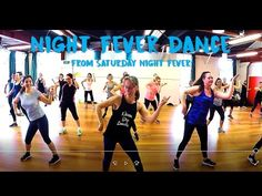 """This is the line dance they do in the movie """"Saturday Night Fever"""" to the song """"Night Fever"""" - don't forget to watch in HD. It is sometimes called """"The Brooklyn . Teach Dance, Learn To Dance, Dance Class, Saturday Night Fever Dance, Saturday Night Live, Dance Workout Videos, Dance Videos, Dance Workouts, Dance Moves"""
