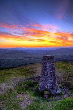 Brilliant Sunset over Meikle Bin of Kilsyth Hills ~ Scotland