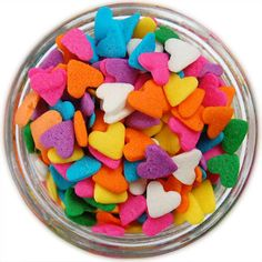 Bright Heart Sprinkles from Layer Cake Shop!  Perfect for cake pops!