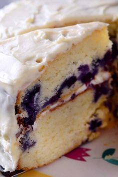 Blueberry Lemon Cake with Cream Cheese Frosting