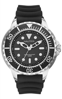 Men's Wrist Watches - Nautica Mens N18630G Mega Pro Diver  NMX 650  Watch *** Want to know more, click on the image.