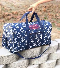 286d5c0c46 5 colors- Anchor DUFFLE Bag - Navy Overnight Bag - Personalized duffle bag  - Girls Gym Bag - Weekender Bag - Monogrammed Duffle - Sports Bag
