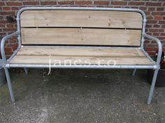 * Nieuw* Boerenbank : Robuuste bank van steigerbuis met hout. U heeft de keuze uit verschillende houtsoorten.