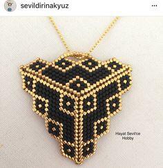 Miyuki, delica, peyote, bracelet, boncuk, bileklik, takı, jewelry, 3D, triangle, üçgen