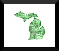I ordered this for my wall in the hall...you can even ask them to bold and change the color of East Lansing!
