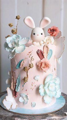 Girls First Birthday Cake, Baby Birthday Cakes, Beautiful Birthday Cakes, Husband Birthday Cake, Elegant Birthday Cakes, Gateau Baby Shower, Baby Shower Cakes, Baby Shower Balloons, Rodjendanske Torte