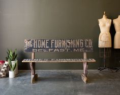 Vintage 1910's Wooden Bus Bench by MDQualityGoods on Etsy https://www.etsy.com/listing/227944916/vintage-1910s-wooden-bus-bench