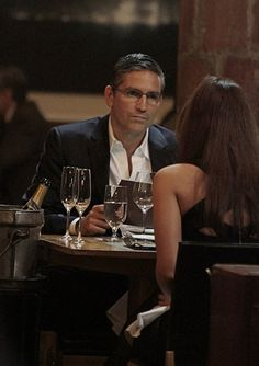 Still of Jim Caviezel and Gloria Votsis in Person of Interest (2011)