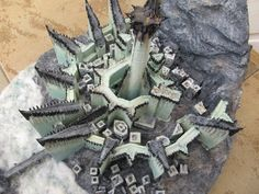 Minas Morgul, wooden model seen from above by LePtitSuisse1912 on DeviantArt