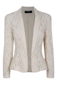 Wear a lace cardigan today! See how a lace cardigan can give your added appeal right here. Lace Blazer, Lace Jacket, Jacket Style, Look Fashion, Hijab Fashion, Fashion Outfits, Fashion Design, Blazer Jackets For Women, Coats For Women
