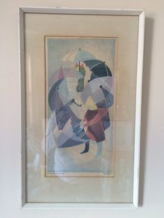 "Limited Edition Print - Signed & Numbered - Titled ""Children with Umbrellas"" by Eileen Mayo - Framed - x Umbrella, Art Painting, Painting, Painting Prints, Limited Edition Prints, Art, Prints"