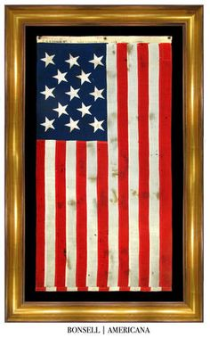 13 Star Antique US Navy Flag | Made at the New York Naval Shipyard in Brooklyn