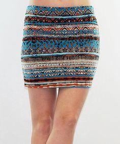 Love this Teal & Rust Tribal Miniskirt on #zulily! #zulilyfinds