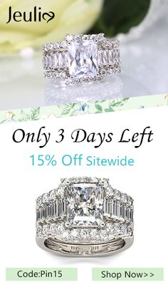 Radiant Cut Sterling Silver Ring Set How can we shined in the crowd? Click Now Save Off Sitewide. Only 3 Days Left. Silver Pendant Necklace, Silver Hoop Earrings, Jewelry Rings, Jewelry Accessories, Jewelry Box, Jewelry Making, Tiffany Earrings, Diamond Are A Girls Best Friend, Beautiful Rings