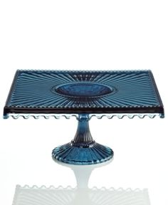 Blue Square Cake Stand...this is the prettiest one I've ever seen!!!