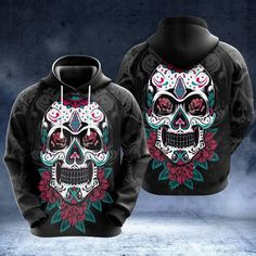 Love Store, Pink Skull, Skull Shirts, Flower Skull, Zip Hoodie, High Definition, Arms, Just For You, Hoodies