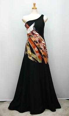 Asian Wedding Dress, Wedding Kimono, Wedding Gowns, Kimono Fabric, Kimono Dress, Kimono Fashion, Fashion Outfits, Kimono Design, Japanese Fashion