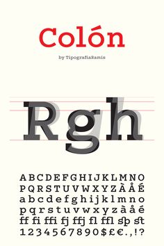 COLÓN slab serif font family #font