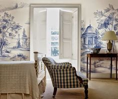 Belclaire House: My New Mural from Susan Harter! this is in a bedroom, so pretty!