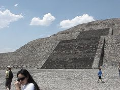 360 View of Teotihuacan from Atop Piramide de la Luna, Mexico.  Allen Louison.