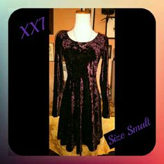 XXI PURPLE DRESS SIZE SMALL GENTLY USED WELL STORED IN GREAT FUNCTIONAL CONDITION I HAVE TONS OF ITEMS SO DETAILS ARE IN THE ?'s & COMMENT SECTION  TO AVOID CANCELLATIONS PLS ASK ME TO DOUBLE CHECK B4 PURCHASING I SELL ON OTHER APPs & THE DAY CAN GET HECTIC? I SHIP M-TH ONLY  I ANSWER?'s 6:30AM-8:30PM PT WHEN I'M NOT DRIVING ?'s AFTER 8:30PM WILL BE ANSWERED NEXT DAY THANKS FOR YOUR INQUIRY & HOPE Y'ALL HAVE A GREAT DAY  ;) XXI Dresses