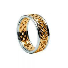 Gents Celtic Knot Filigree Wedding Ring with Trims – Celtic Jewelry by Boru ® Irish Wedding Rings, Gold Wedding Rings, Wedding Bands, Ring Shapes, Filigree Ring, Celtic Knot, Rings For Men, Engagement Rings, Range