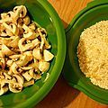 Risotto aux champignons et jambon cru au Micro Vap' Tupperware - Une princesse en cuisine
