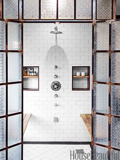 Shower fixtures from the Astaire collection by Newport Brass