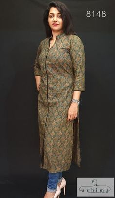 Daily wear kurtis from Ashimafashionstore . View our collection of kurtis online Printed Kurti Designs, Silk Kurti Designs, Simple Kurta Designs, Salwar Neck Designs, Churidar Designs, Kurta Neck Design, Kurta Designs Women, Kurti Designs Party Wear, Blouse Designs