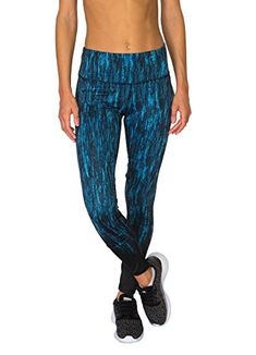 5a88d7be40945 RBX Active Women's Stalactites Printed Legging Blue Combo... https://www