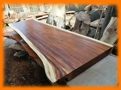 Natural Wood Slab Table