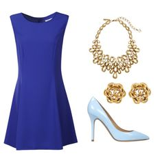A double blue and gold outfit for Chapter meetings!