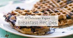 Start your day right with these 30 relicious vegan breakfast recipes that are made with mostly wholesome ingredients and naturally low in fat.