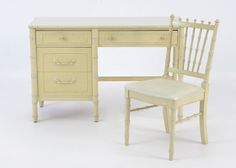 Thomasville Desk and Chair Set : EBTH