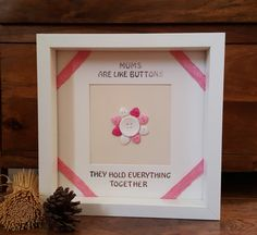 Mothers Day Frame Handmade Mothers Day Gift by Forgetmeknotcrafty