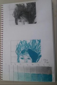 Sketchbook activity in preparation for bigger painting