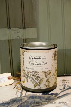BOXWOOD -   a deep bluish green.  New botanical paints by Caromal Colours - chalk paint on steroids! Adheres to nearly any surface, covers amazing, little to no brush marks, does not require a wax or topcoat.  Fully stocked, in store (Metro Detroit) and online shop.fabfinisher.com