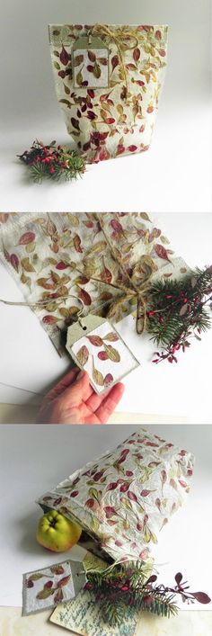 Gift wrap bag from handmade paper