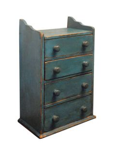 Miniature Four Drawer Chest Late 19th/early 20th c.