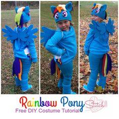 Free DIY Rainbow Pon