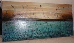 Nature landscape-original acrylic painting on canvas via Etsy