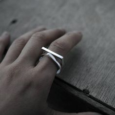 This listing is for ONE ring only, the smile shape Adam ring. The Eve droplet shaped ring is not included in this listing. NOTE: choose your size carefully as I DO NOT exchange as theyre made-to-order, refund or returns are not accepted on bespoke orders. Please allow 3-5 working days lead