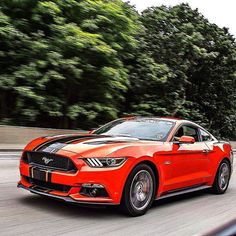 Awesome rolling shot of Aaron's S550 #Mustang GT.