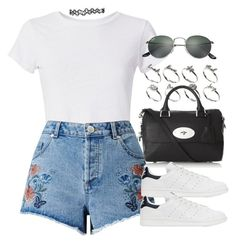 Sin título #12702 by vany-alvarado on Polyvore featuring polyvore, fashion, style, Hanes, Miss Selfridge, adidas Originals, Mulberry, ASOS, Ray-Ban and clothing